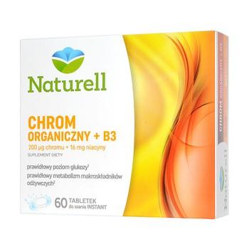 Naturell Chrom Organiczny + B3, tabletki do ssania, 60 szt.
