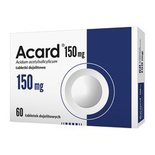 Acard, 150 mg, tabletki dojelitowe, 60 szt.