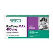 IbuTeva Max, 400 mg, tabletki powlekane, 24 szt.
