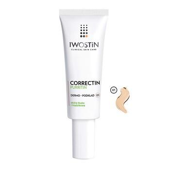 Iwostin Correctin Purritin, fluid dla skóry trądzikowej, SPF 30, odcień 01, 30 ml
