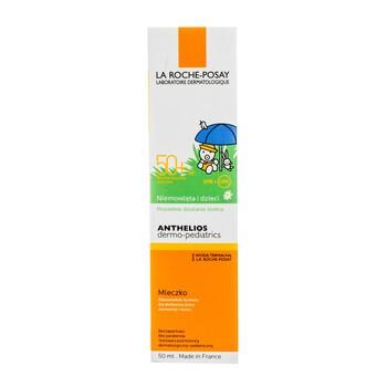 La Roche-Posay Anthelios Dermo-Pediatrics, ochronne mleczko do twarzy i ciała dla niemowląt i dzieci, SPF 50+, 50 ml