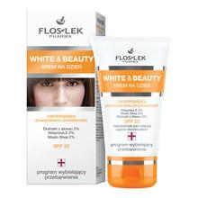 FlosLek Pharma White & Beauty, krem na dzień zapobiegający powstawaniu przebarwień SPF 20, 50 ml