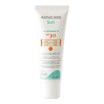 Synchroline Aknicare Sun, emulsja z filtrem ochronnym SPF 30, 50 ml