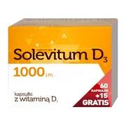 Solevitum D3 1000, kapsułki, 75 szt. (60 szt. + 15 szt.)