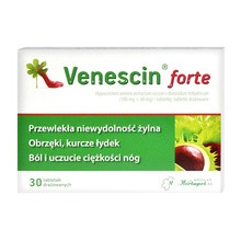 Venescin forte, tabletki drażowane, 30 szt.