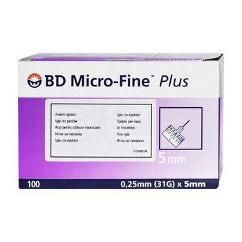 BD PEN igły, (micro-fine), (0,25 x 5 mm), 100 szt