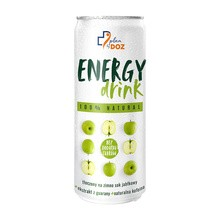 Plan by DOZ Energy Drink, 100% Natural, o smaku jabłkowym, 250 ml