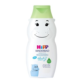 HiPP Babysanft, płyn do kąpieli dla dzieci od 1. dnia życia Hipopotam, 300 ml