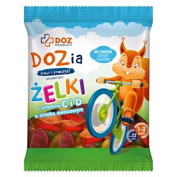 DOZ PRODUCT Dozia, żelki z witaminą C i D o smaku owocowym, 100 g