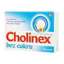 Cholinex, 150 mg, pastylki do ssania (bez cukru), 16 szt.