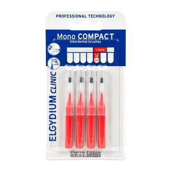 Elgydium Clinic Mono Compact 4, szczoteczka międzyzębowa, 4 szt.