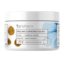 Vis Plantis Herbal Vital Care, peeling cukrowo-solny, olej arganowy + olej lniany, 200 ml
