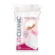 Cleanic, Pure Effect Soft Touch, płatki kosmetyczne kwadratowe, 50 szt.