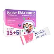 Junior Easy Biotic, proszek w saszetkach, 20 szt. (15 szt. + 5 szt.)