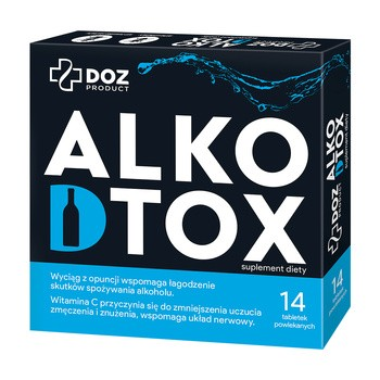 DOZ PRODUCT Alkodtox, tabletki powlekane, 14 szt.