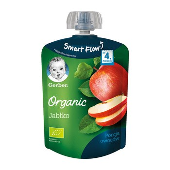 Gerber Organic, mus jabłko, 4 m+, 90 g