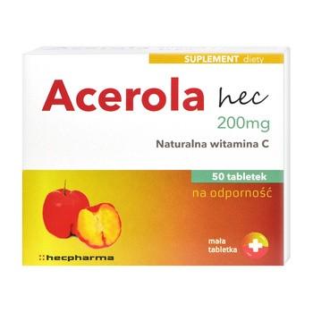 Acerola hec 200 mg, tabletki, 50 szt.