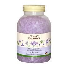 Green Pharmacy, sól do kąpieli, rozmaryn, lawenda, 1300 g