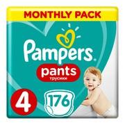Pampers Pants 4, pieluchomajtki dla dzieci (9-15 kg), 176 szt.
