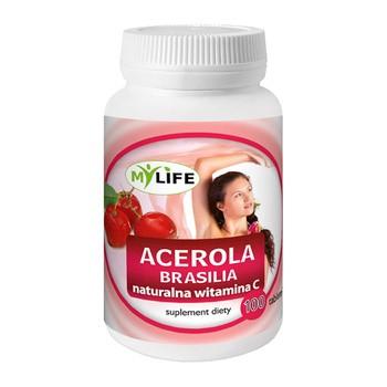 Acerola C Brasilia, naturalna witamina C, tabletki, 100 szt.