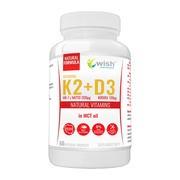 Wish Witamina K2 Vita MK-7 + D3, kapsułki, 60 szt.