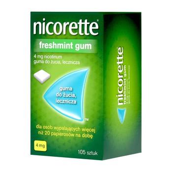 Nicorette Freshmint Gum, 4 mg, guma do żucia, 105 szt.