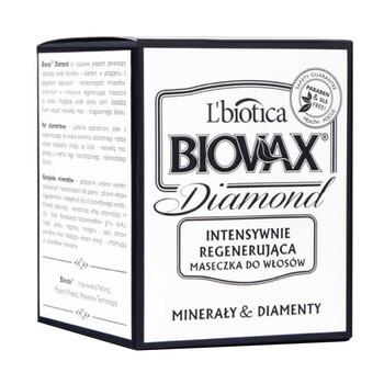 Biovax Glamour Diamond, Minerały & Diamenty, intensywnie regenerująca maseczka do włosów, 125 ml