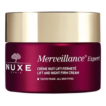 Nuxe Merveillance, krem liftingująco-ujędrniający na widoczne zmarszczki na noc, 50 ml