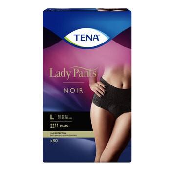 Majtki chłonne TENA Lady Pants Plus Noir, rozmiar L, 30 szt.