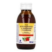 Syrop prawoślazowy, z malinami i cynkiem, 100 ml