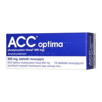 ACC optima, 600 mg, tabletki musujące, 10 szt. (import równoległy, Delfarma)