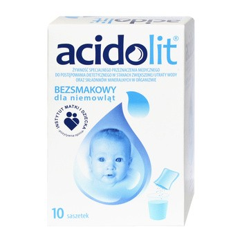 Acidolit, proszek bezsmakowy dla niemowląt, 4,35 g,10 saszetek