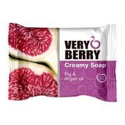 Very Berry, kremowe mydło w kostce, Fig & Argan oil, 100 g