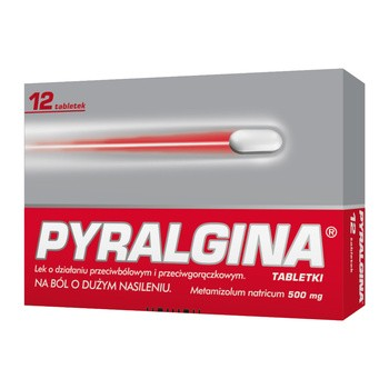 Pyralgina, 500 mg, tabletki, 12 szt.