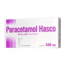Paracetamol Hasco, 500 mg, czopki, 10 szt.