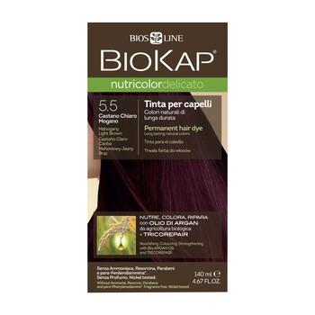 Biokap Nutricolor Delicato, farba do włosów, 5.5 mahoniowy jasny brąz, 140 ml