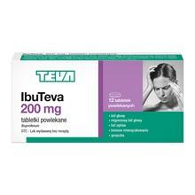 IbuTeva, 200 mg, tabletki powlekane, 12 szt.