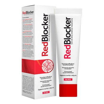 RedBlocker, krem do skóry wrażliwej i naczynkowej, na noc, 50 ml
