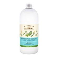 Green Pharmacy, płyn do kąpieli z oliwkami i mlekiem ryżowym, 1000 ml
