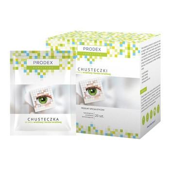Prodex Sensitive, chusteczki do skóry wrażliwej i bardzo wrażliwej, 20szt
