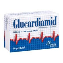 Glucardiamid, 125 mg + 1500 mg, pastylki do ssania, 10 szt.