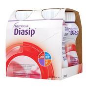 Diasip, płyn o smaku truskawkowym, 4 x 200 ml