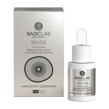BasicLab Esteticus, kuracja przeciwzmarszczkowa pod oczy, nawilżenie i ujędrnienie, 15 ml