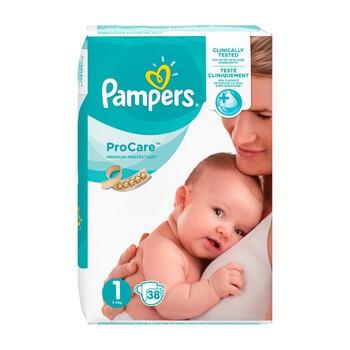 Pampers ProCare, pieluchy dla dzieci, rozmiar 1, (2-5 kg), 38 szt.