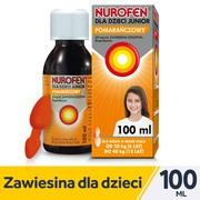 Nurofen dla dzieci Junior, 40 mg/ml, zawiesina doustna o smaku pomarańczowym, 100 ml