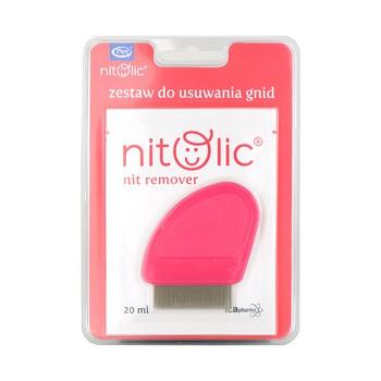 Pipi Nitolic, zestaw do usuwania gnid (20 ml saszetka+grzebień)