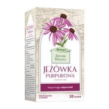 Zielnik Świata Jeżówka purpurowa, zioła do zaparzania w saszetkach, 20 szt.