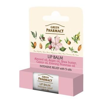 Green Pharmacy, balsam do ust, intensywnie zmiękczający, 5 olejów i witamina E, SPF 10, 3,6 g