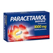 Paracetamol Biofarm, 1000 mg, tabletki powlekane, 10 szt.