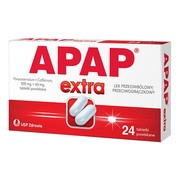 Apap Extra, 500 mg + 65 mg, tabletki powlekane, 24 szt.